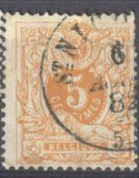 4Jj-247: N°28: D7: ST.NICOLAS.: Zonder Binnencirkel - 1869-1888 Lion Couché