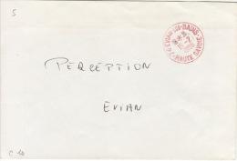 HAUTE SAVOIE -Evian Les Bains- Enveloppe - CAD-Franchise Rouge-Type A9- 1988 - Marcophilie (Lettres)