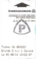 Ticket de parking pay� - Angoul�me [parc du Champ de Mars] - Scheidt & Bachmann (24-09-2013)