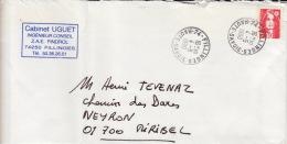 HAUTE SAVOIE -Fillnges- Enveloppe - CAD-Type A9- 1990 - Marcophilie (Lettres)