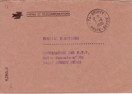 HAUTE SAVOIE -Gruffy- Enveloppe - CAD-Franchise-Type A9- 1986 - Marcophilie (Lettres)