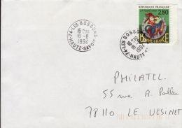 HAUTE SAVOIE -Les Bossons- Enveloppe - CAD-Type A9- 1994 - Marcophilie (Lettres)