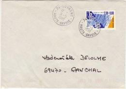 HAUTE SAVOIE -Lovagny- Enveloppe - CAD-Type A9- 1990 - Marcophilie (Lettres)