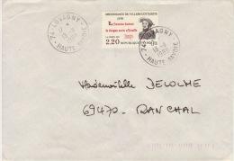 HAUTE SAVOIE -Lovagny- Enveloppe - CAD-Type A9- 1989 - Marcophilie (Lettres)