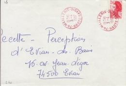 HAUTE SAVOIE -Meillerie- Enveloppe - CAD-Type A9- 1987 - Marcophilie (Lettres)