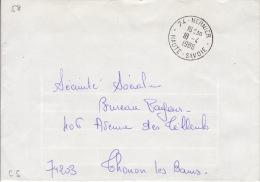HAUTE SAVOIE -Nernier- Enveloppe - CAD-Franchise-Type A9- 1986 - Marcophilie (Lettres)