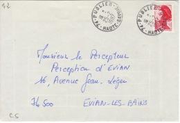 HAUTE SAVOIE -Publier- Enveloppe - CAD-Type A9- 1987 - Marcophilie (Lettres)