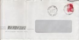 HAUTE SAVOIE -Publier- Enveloppe - CAD-Type A9- 1989 - Marcophilie (Lettres)