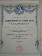 Magnifique Action Décorée. ARYS Parfums De Luxe. Action De 500 Francs - Parfums & Beauté