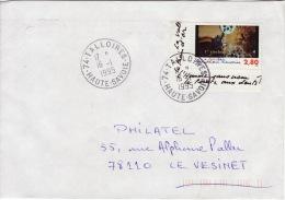 HAUTE SAVOIE -Talloires- Enveloppe - CAD-Type A9- 1995 - Marcophilie (Lettres)