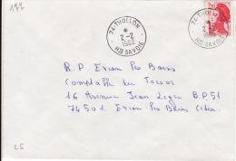 HAUTE SAVOIE -Thollon- Enveloppe - CAD-Type A9- 1990 - Marcophilie (Lettres)