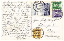 Fliegertage Herisau 1913 - Offizielle Karte Mit Vignette 14.V.13 Herisau Nach Ulm D. - Autres Documents