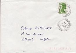 HAUTE SAVOIE -Thonon Les Bains- Enveloppe - CAD-Type A9- 1989 - Marcophilie (Lettres)