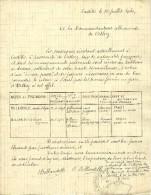 """30 Juillet 1940 - ORTHEZ (64) - Demande De 'Laissez-passer"""" Pour Rapatriement à Paris - Entièrement Manuscrit - Documents Historiques"""