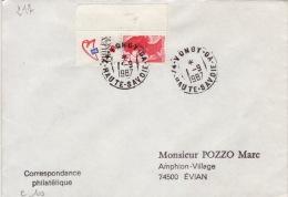 HAUTE SAVOIE -Vongy GA- Enveloppe - CAD-Type A9- 1987 - Marcophilie (Lettres)