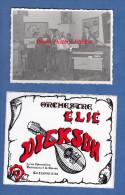 3 Photos Anciennes + Autocollant - BETTANCOURT  / SAINT DIZIER - Orchestre Elie Dickson - Calogero SAFONTE - Célébrités