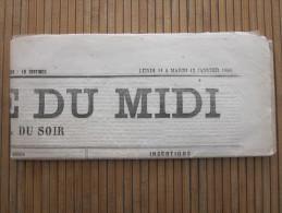LA GAZETTE DU MIDI Original Journal Mardi 12 Janvier 1886 Faire Défiler Images Et Lire Articles De Presse - Periódicos