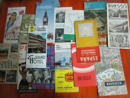 11 GUIAS Y MAPAS DE TURISMO DIFERENTES - TOURISME TOURIST TOURIST GUIDES GUIDE - Geographische Kaarten