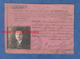 Document ancien de 1930 - PARIS 18e - Permis de Conduire les Automobiles - G. PASQUET n� � Angouleme