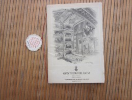 RARE Gran Teatro Del LICEO TEMPORADA De Invierno 1948/49 Barcelona Espana Programme  Fausto FAUST OPERA 5 Actes Pelléas - Programas