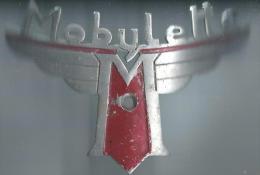 Insigne de marque /V�lomoteur /Mobylette/ Aluminium peint / Ann�es 1950         AC96