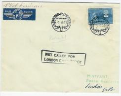 Par Avion  Luftpost  NAPAPIIRI-POLCIRKELN 9.6.1961 To LONDON        POOLCIRKEL - Storia Postale