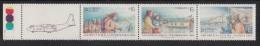 Chile MNH Scott #673a Strip Of 3 Plus Label 15p Antarctic Colonization - Chili