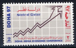 1997 QATAR Economic Doha Conference For The Middle East And North Africa 1 Value (MNH) Mint Never Hinged - Qatar