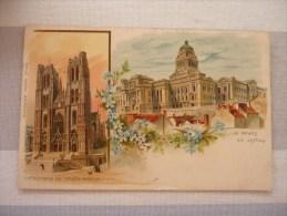 E.B. : Cathédrale Ste Gudule / Palais De Justice - Illustrateurs & Photographes