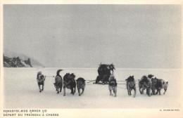 ¤¤   -   GRENLAND   -   Départ Du Traineau à Chasse   -   ¤¤ - Danemark