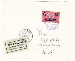 LAUSANNE 28.IX.24 Comptoir Suisse Poste Aérienne Auf Flugpost Brief Nach Basel - Poste Aérienne