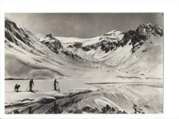 10092 - Lac De Tignes Skieurs Et Chien - Andere Gemeenten