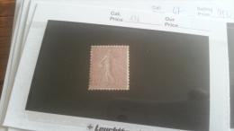 LOT 218269 TIMBRE DE  FRANCE NEUF* N�131 VALEUR 77 EUROS