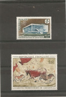 France 1968 Neuf  N° 1554  &  1555   -  Enseignement Audiovisuel  &  Grotte De Lascaux - France