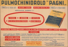 PULMOCHINIDROLO PAGNI FIRENZE - Carte Assorbenti