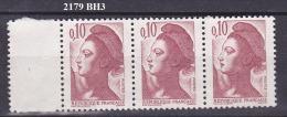 FRANCE N° 2179   BANDE DE 3 OBLITEREE - 1982-90 Libertà Di Gandon