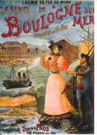 BOULOGNE SUR MER - Chemin De Fer Du Nord - Casino - Reproduction Affiche - Boulogne Sur Mer