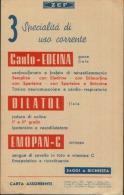 CANFO-EDEINA 1953 CARTA ASSORBENTE - C