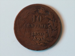 LUXEMBOURG 10 Centimes 1870 Sans Le Point - Luxembourg