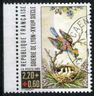 FRANCE 2612a° 2f20 + 60c Multicolore Croix Rouge 1989 Oiseau, Nid Avec Oisillons (10% De La Cote + 0,15) - Gebraucht