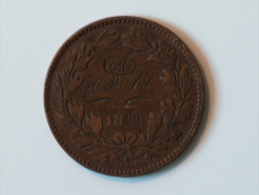 Luxembourg CONTREMARQUE 10 Centimes 1860 A H MICHEL SES AMIS RECONNAISSANT - Luxembourg