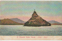 CPA CAP VERT CABO VERDE EX COLONIE DU PORTUGAL Ilheu Sao Vicente Farol Phare Lighthouse Tinted - Cape Verde