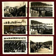 ITALY - FORO MUSSOLINI - LOTE DE 6 PCS - PARADA FASCISTA DE LITTORIA - 1938 REAL PHOTO - War, Military