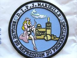 INSIGNE TISSUS PATCH POLICE NATIONALE DIPJ  LA BRP DE MARSEILLE 13 ETAT EXCELLENT