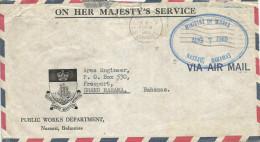 Bahamas 1969 Nassau Unfranked Postage Paid OHMS Cover - Bahamas (...-1973)