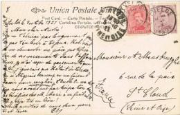 10096. Postal ERTVELDE (Belgie) 1921  A St. Clau (France) - Bélgica