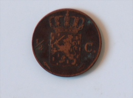 PAYS BAS 1/2 Centime 1823 - [ 3] 1815-… : Royaume Des Pays-Bas