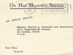 Bermuda 1956 Hamilton Unfranked Postage Paid Cover - Bermuda