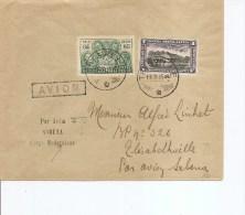 Congo belge ( lettre par avion Sabena  de 1935 vers l'int�rieur - griffe � voir!)