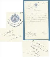 1898 . LETTERA MINISTERO DELL'INTERNO IL SOTTOSEGRETARIO DI STATO  CON FIRME... - Other Collections